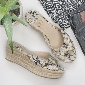 KELSI DAGGER Bianca Snakeskin Platform Sandals